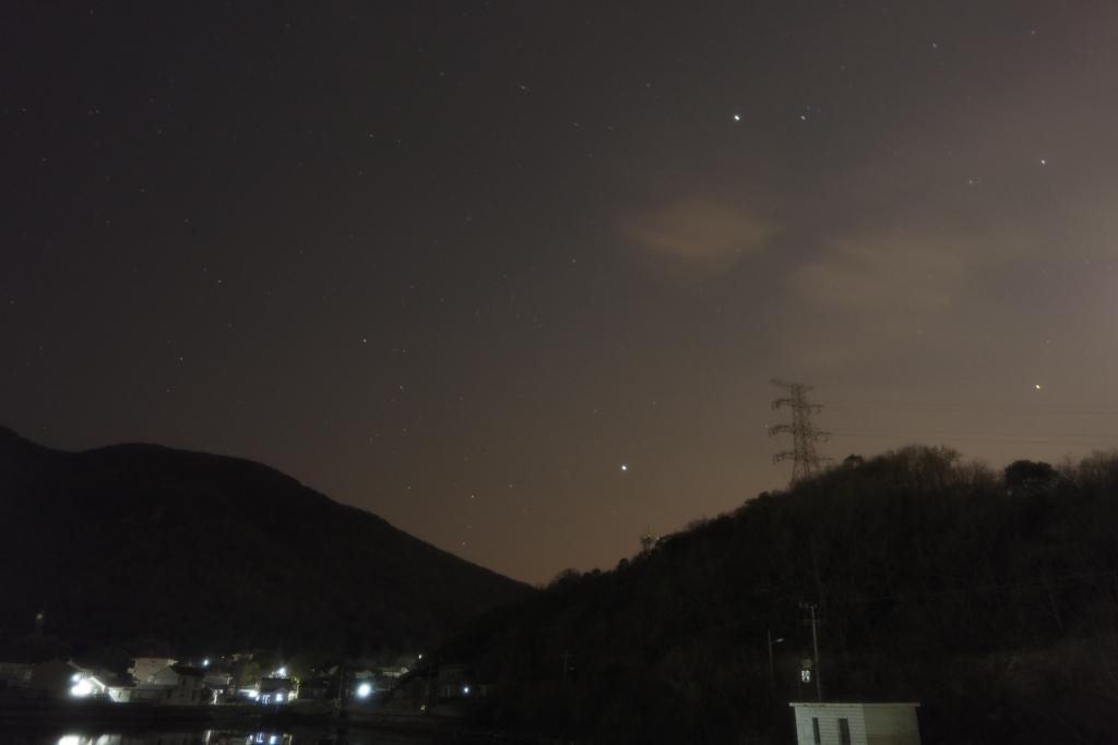 夜空の撮影
