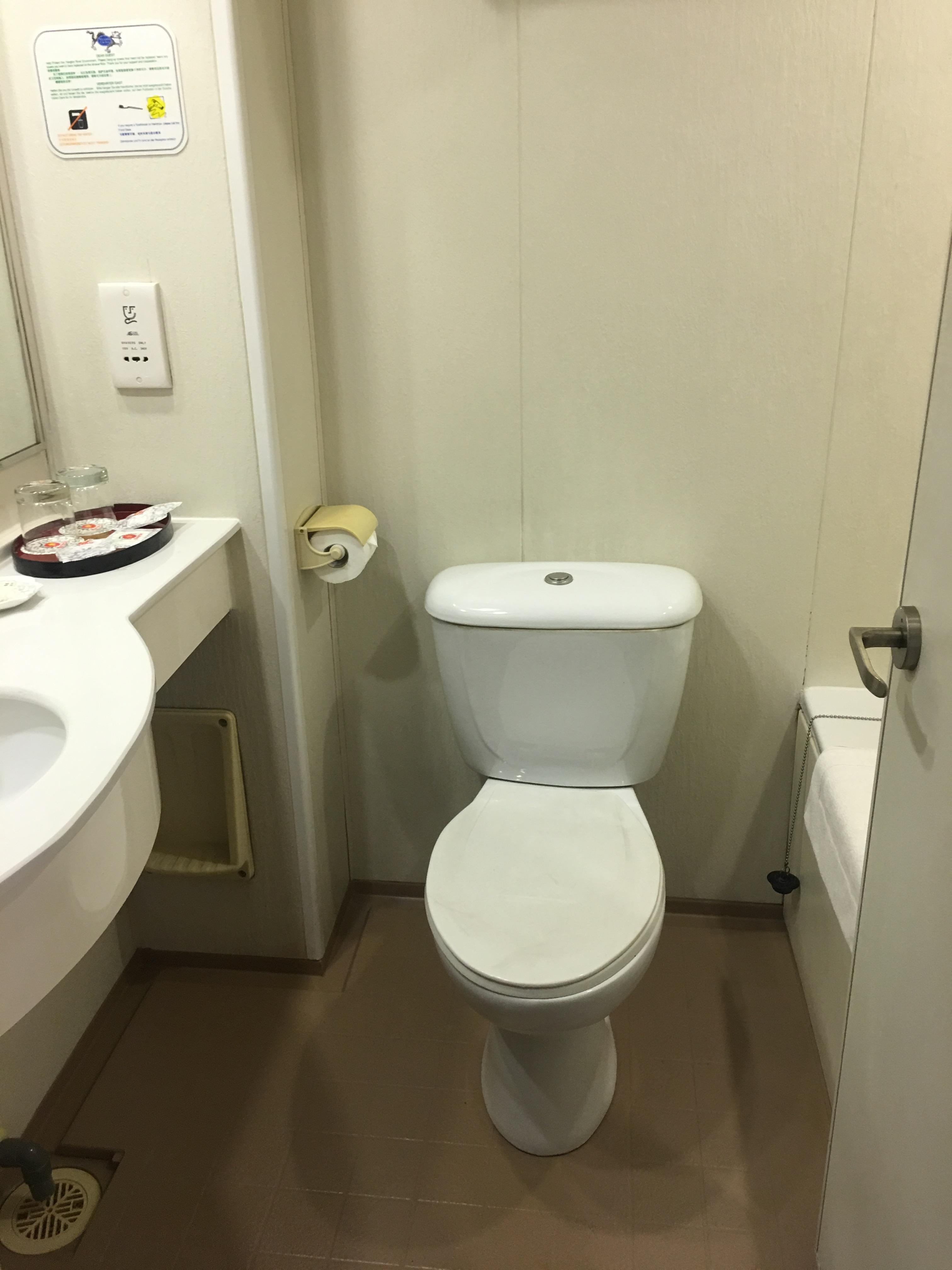 Victoria Cruises号トイレ