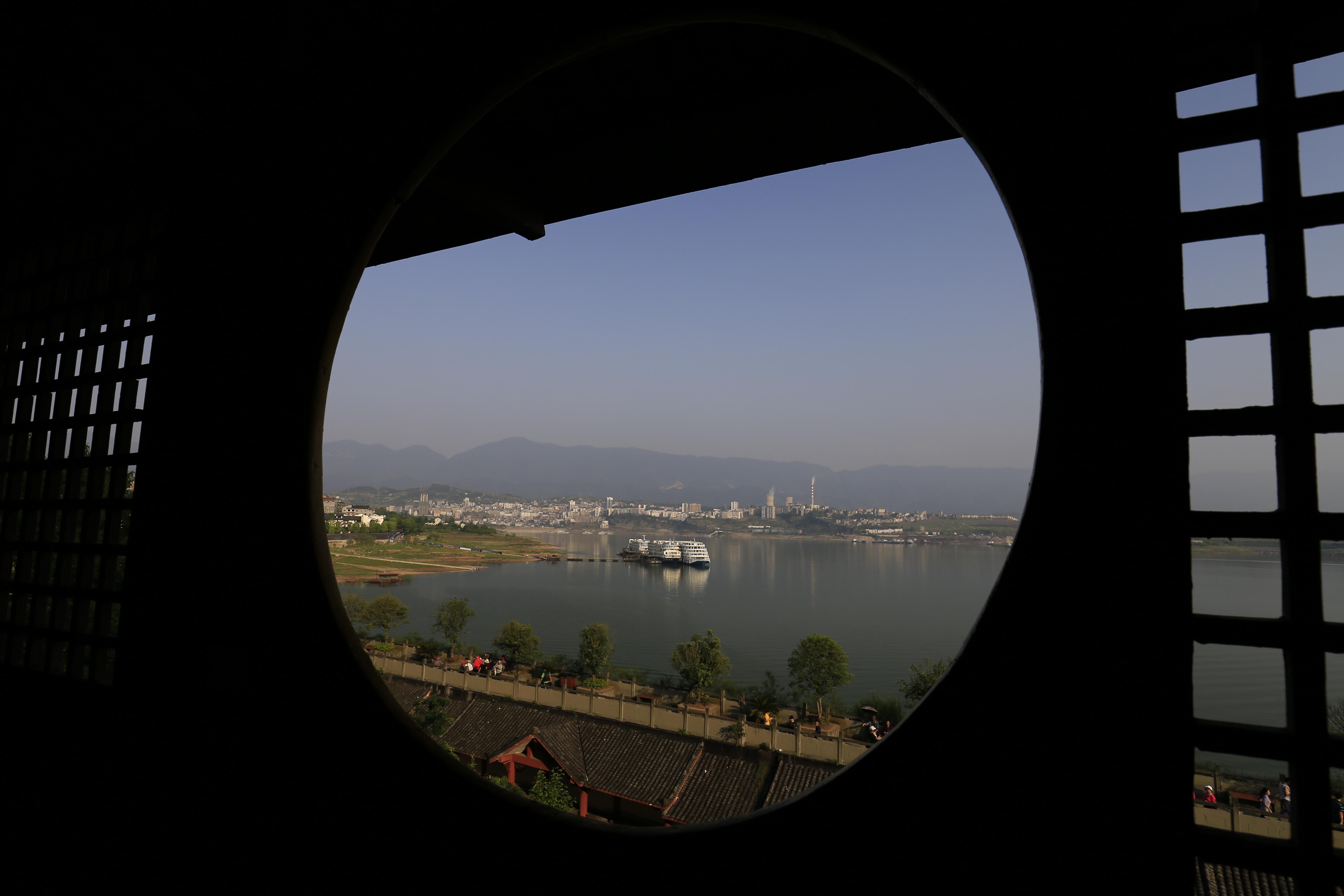 石宝寨の塔からの眺め