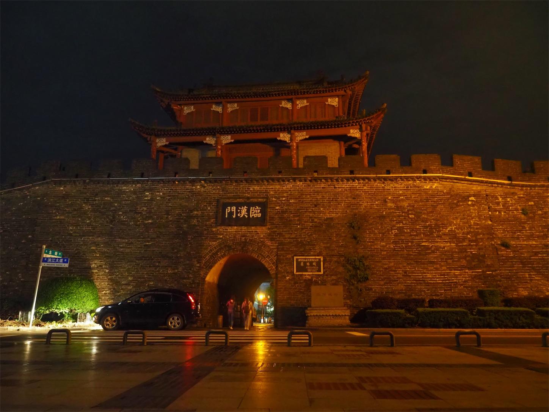 襄陽の夜景・襄陽城北門