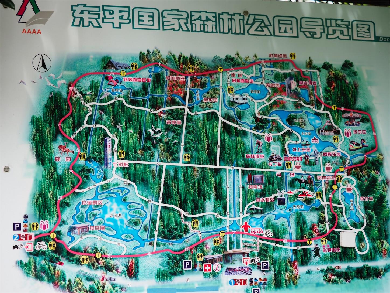 東平国家森林公園・地図