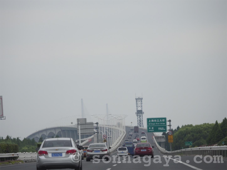 長江大橋手前