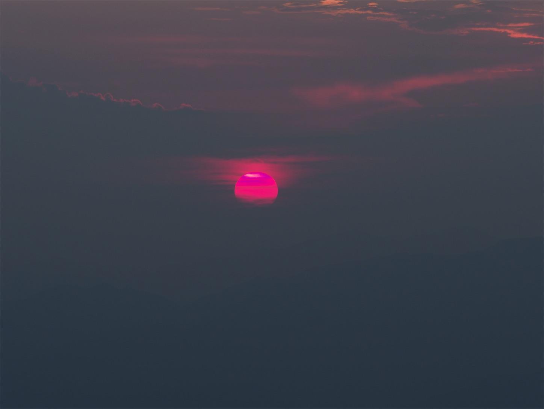 括蒼山の夕焼け