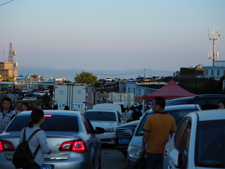 括蒼山の大渋滞