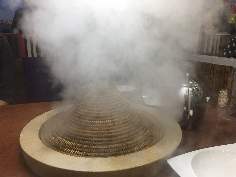 蒸気であぶってます