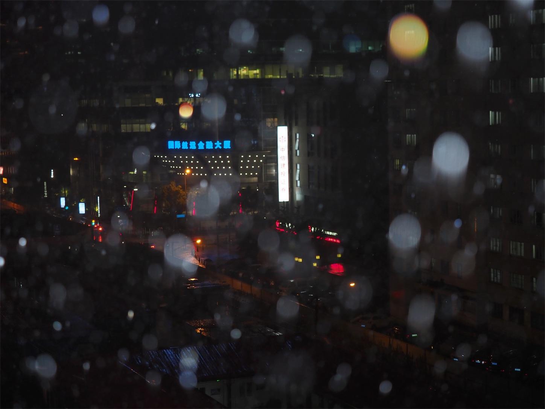 夜雨ピンボケ