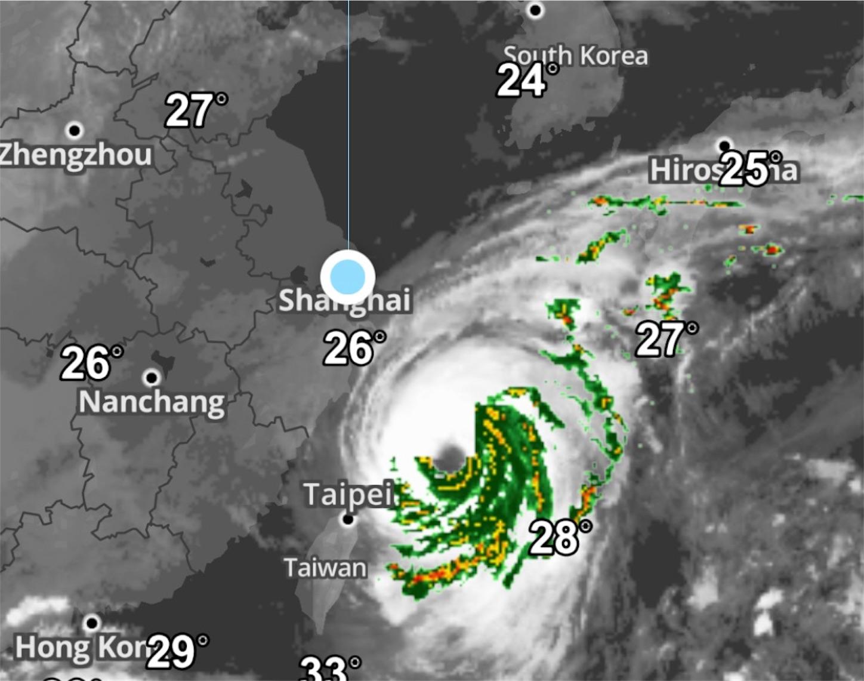台風18号天気図(2017)