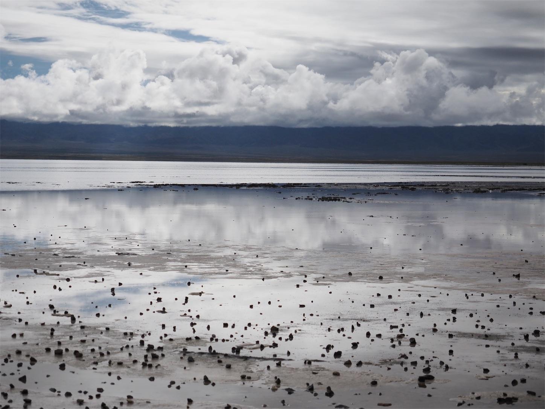 チャーカー塩湖の天空の鏡1