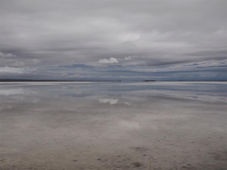 チャーカー塩湖の天空の鏡2