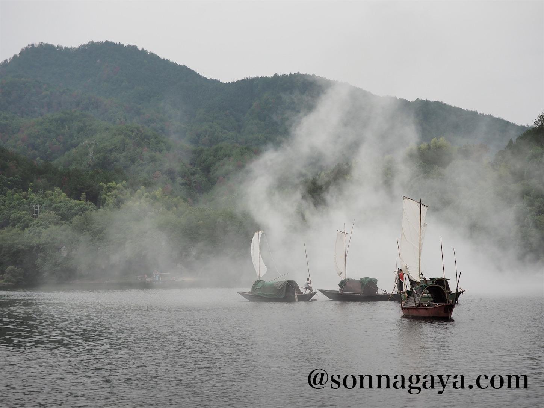 麗水江濱古街(けむり)