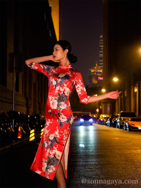 上海外灘美女ポートレート