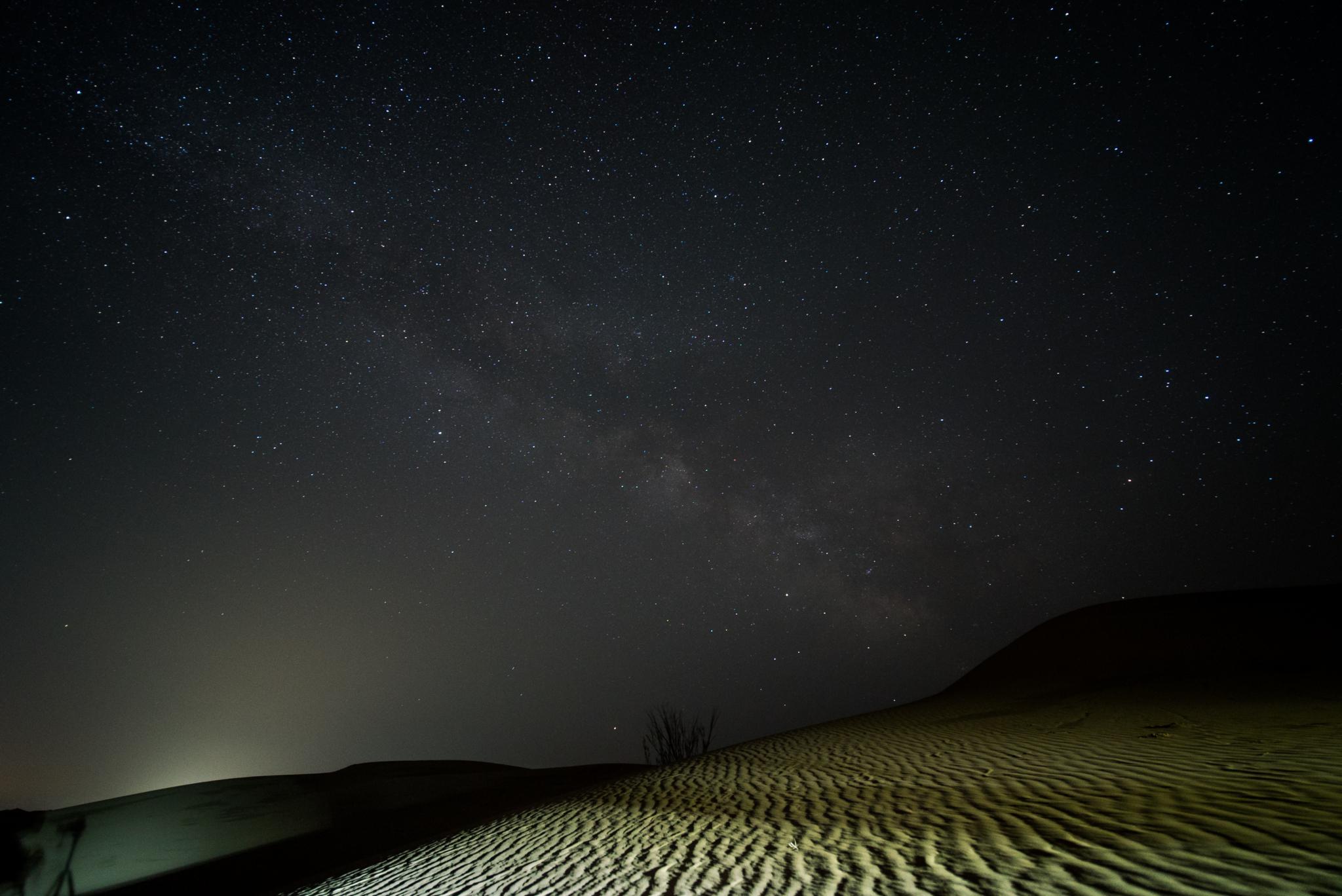クブチ砂漠の天の川