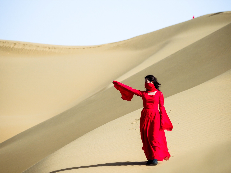 オルドス,クブチ砂漠,ポートレート