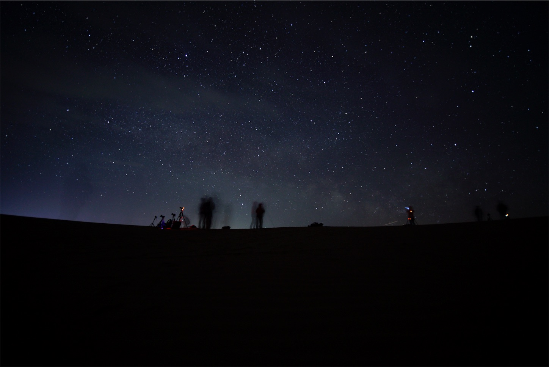 クブチ砂漠の星空