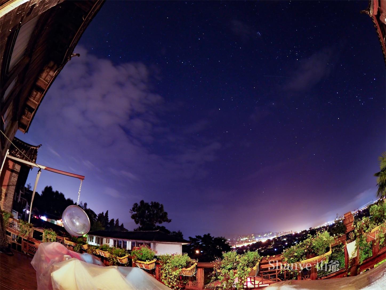 麗江古城の星空