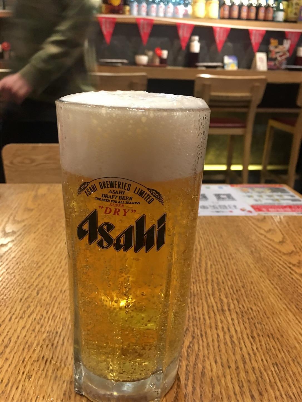 一心ラーメンのビール
