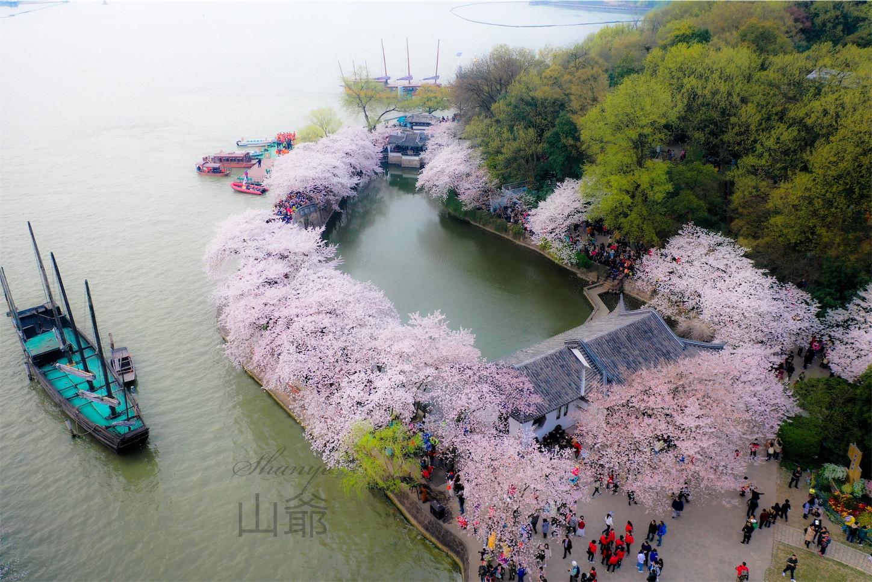 無錫鼋頭渚,長春橋のドローン写真