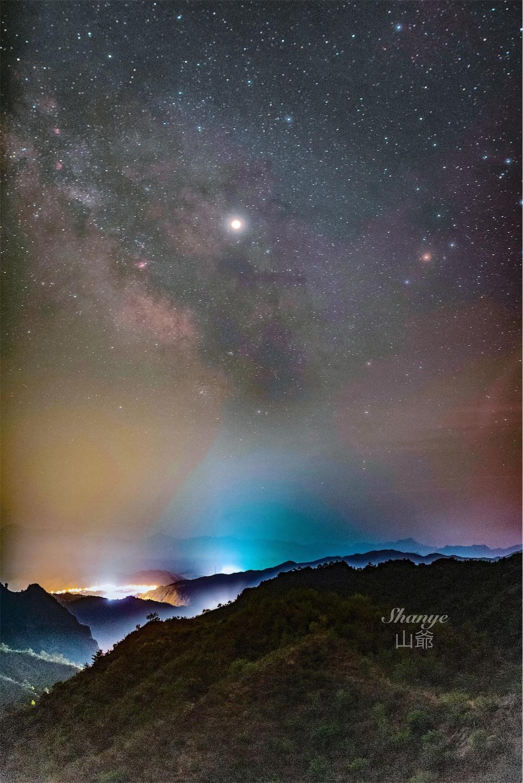 金山嶺長城星空撮影
