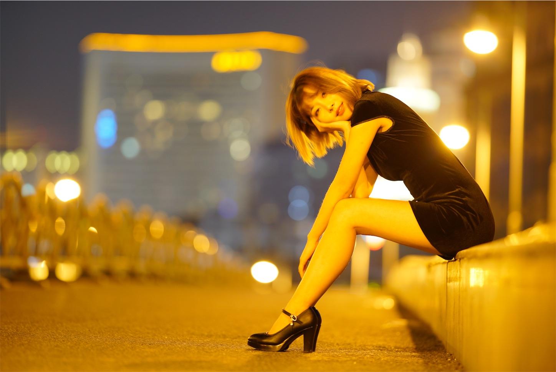 上海浦西蘇州河の鉄橋,チャイナドレスポートレート
