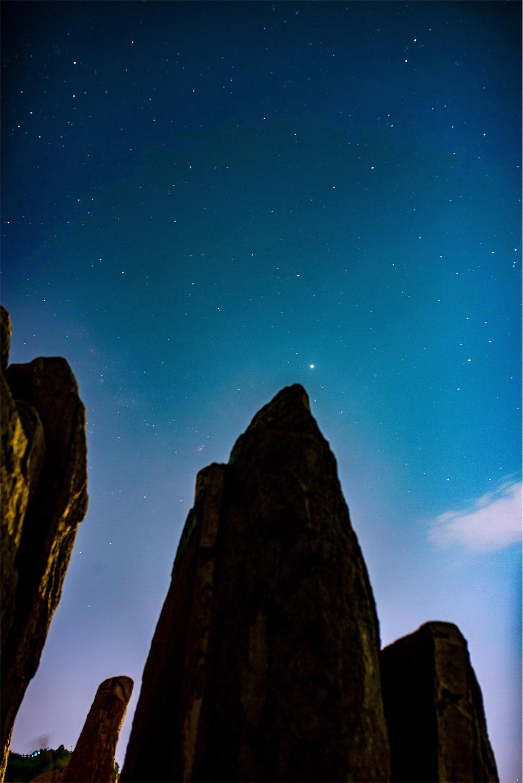 泰山の星空