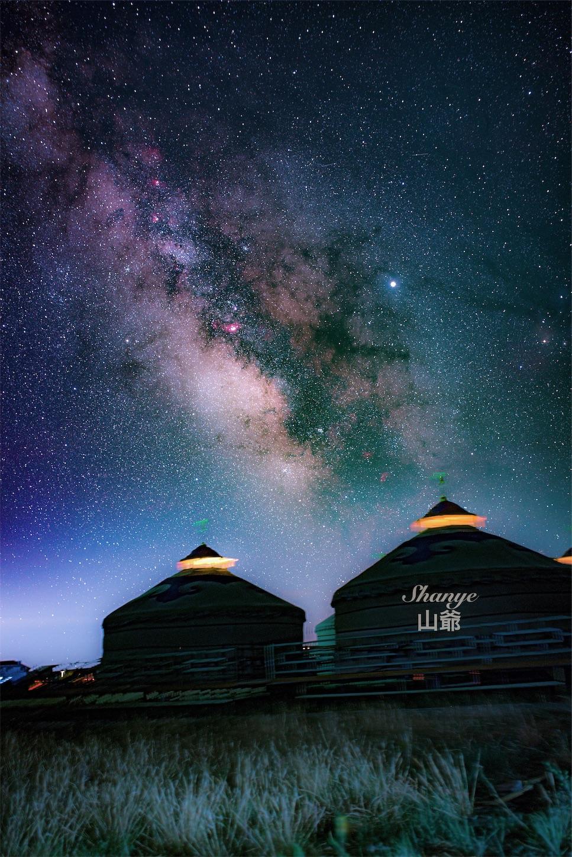 35mmの天の川,内モンゴル,シラムレン草原,星空