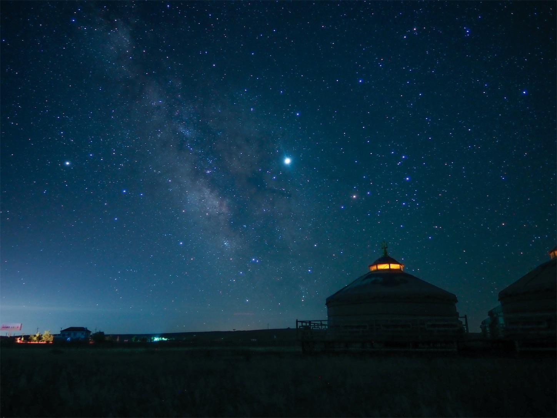 24mmの天の川,内モンゴル,シラムレン草原,星空