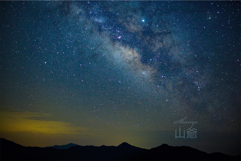 35mmの天の川,安徽省,黄山市,石潭,星空