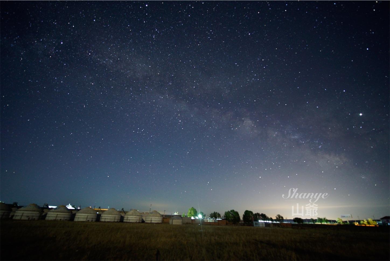 15mmの天の川,内モンゴル,シラムレン草原,星空