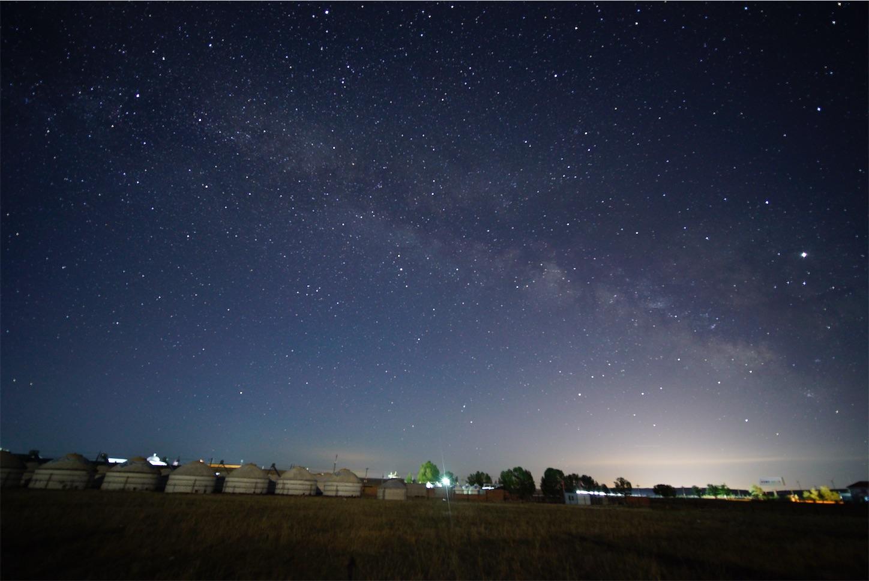 内モンゴル天の川,星空
