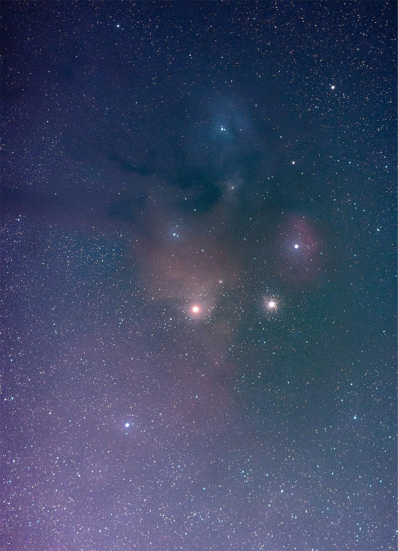 135mm,アンタレス付近,PS,星空,蠍座