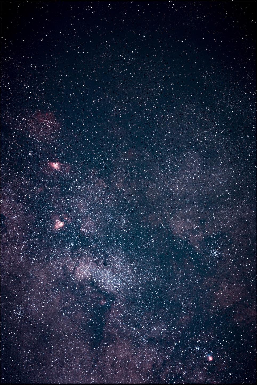 天の川アップ,星空