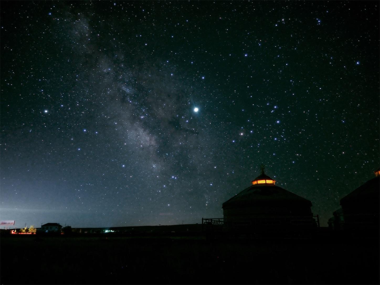 内モンゴルの天の川,パナライカ12mm,ソフトフィルタ,星空