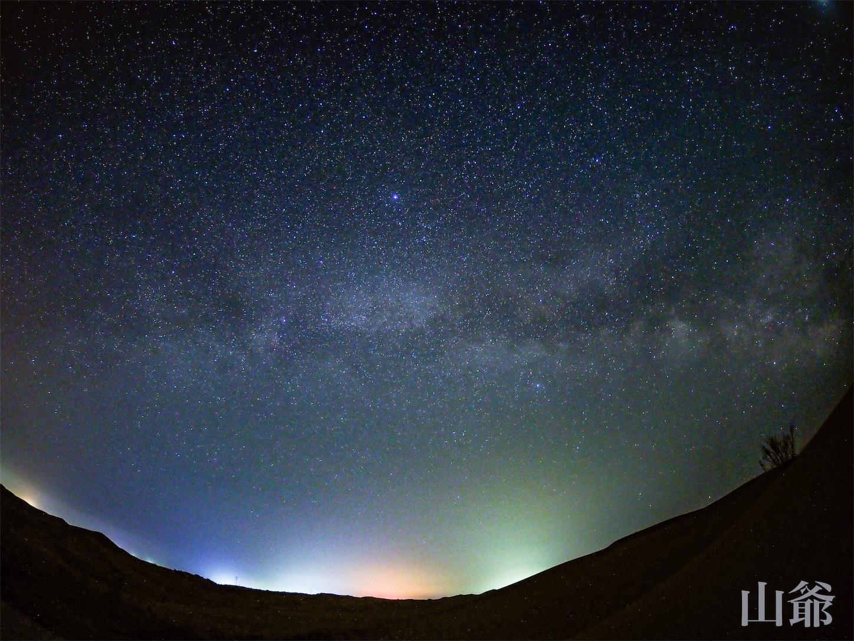 内モンゴル,オルドス市,クブチ砂漠,星空