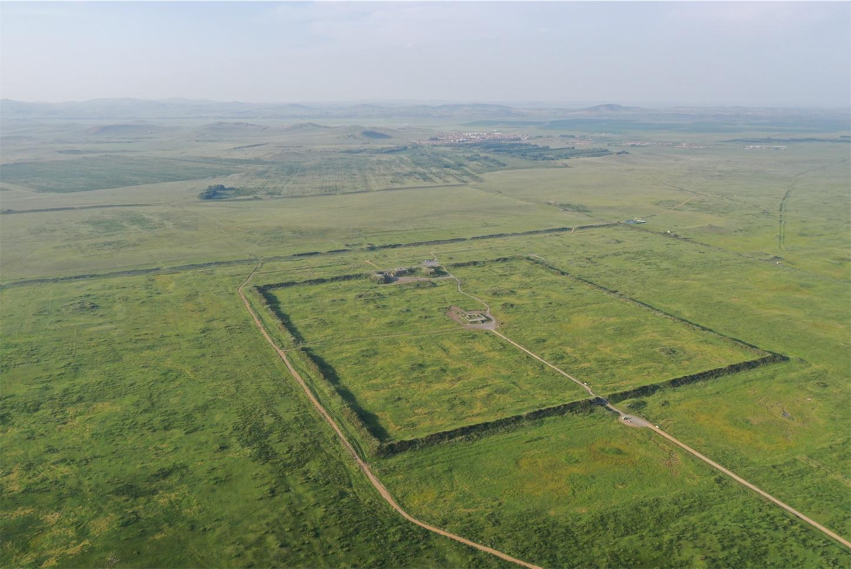 元上都の遺跡Site of Xanadu,上空