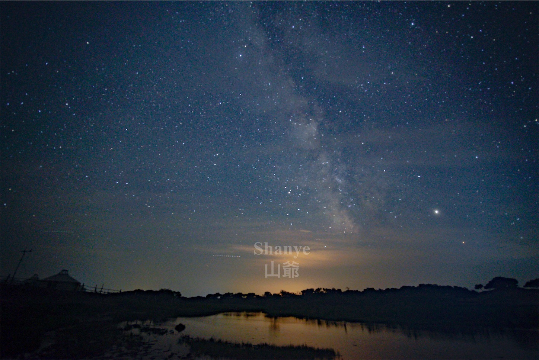 内モンゴル,シリンゴル,黑风河风景区,天の川