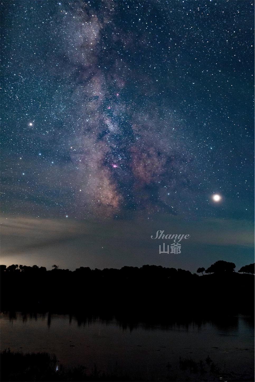 内モンゴル,シリンゴル,黑风河风景区,星空,天の川
