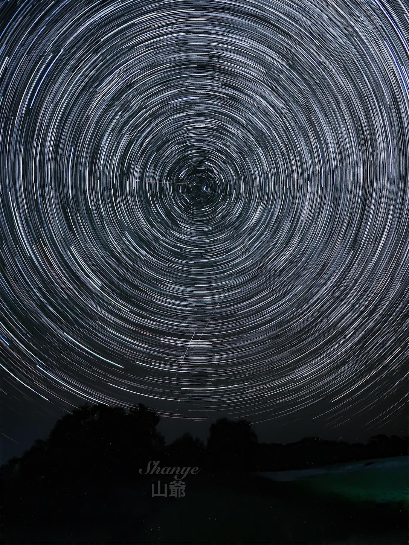 内モンゴル,シリンゴル,黑风河风景区,星空,星の軌跡