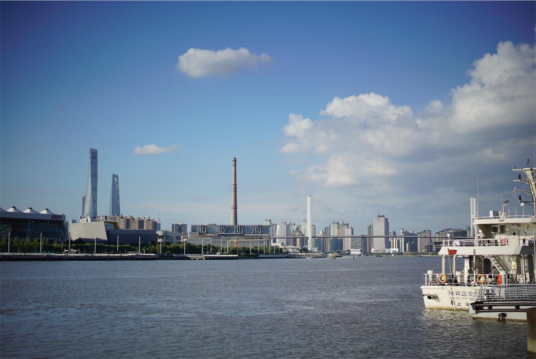 上海南浦大橋の風景