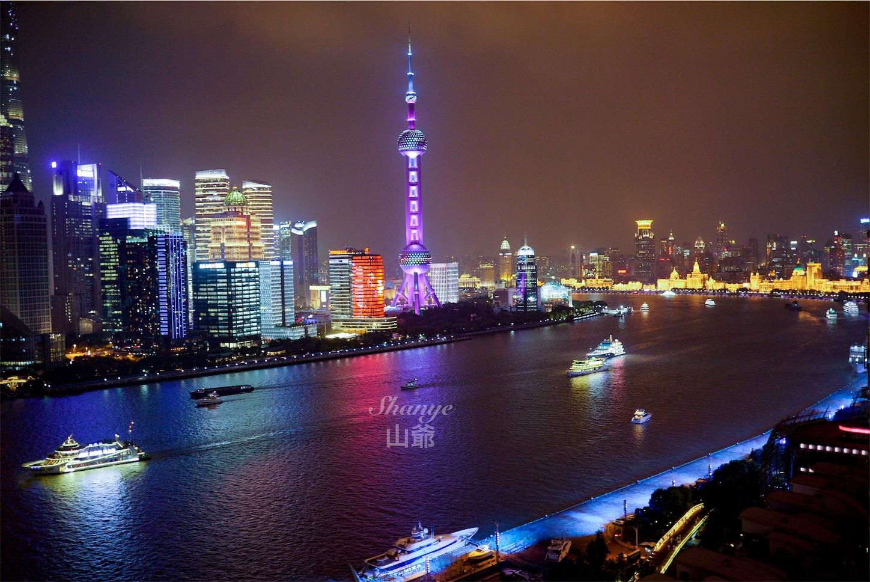上海テレビ塔夜景