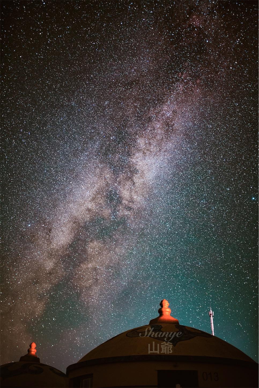 秋の秋の内モンゴル天の川、西の空