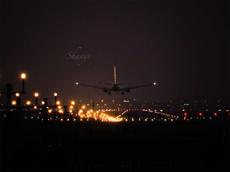 虹橋空港着陸4