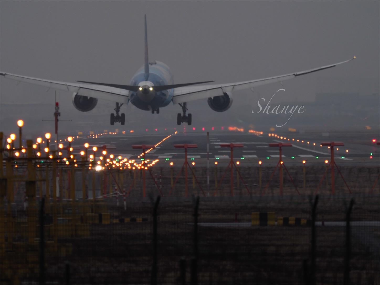 虹橋空港着陸3