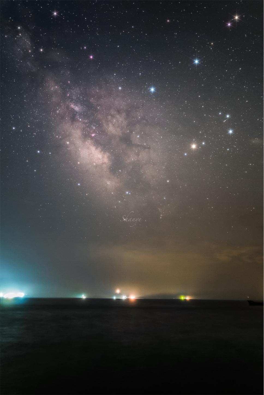 天の川嵊泗島,舟山,浙江省,中国