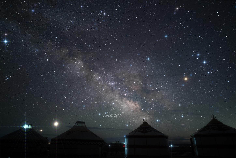 内モンゴル草原の天の川,FE24mmGM