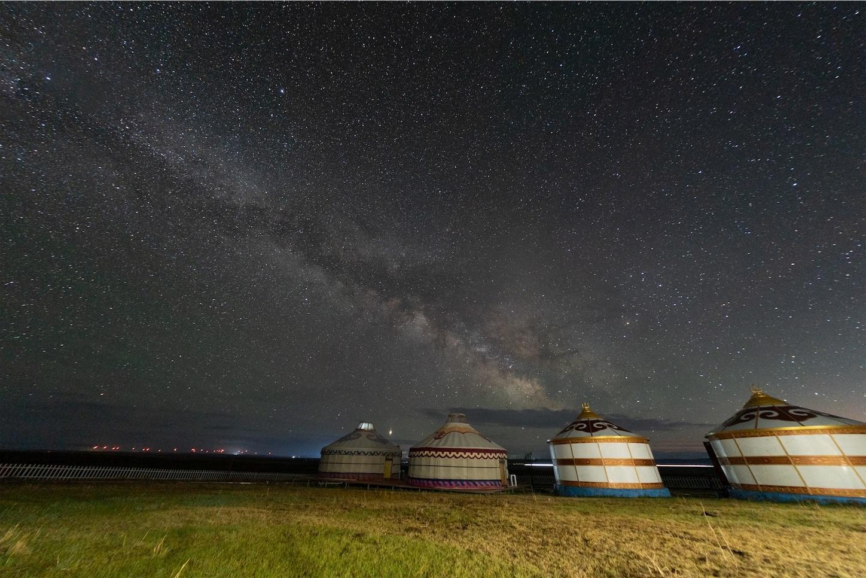 内モンゴル草原の天の川,ttartisan 11mmF2.8(F2.8),補正後