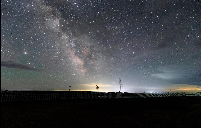 内モンゴル草原の天の川,EF16-35mmF4(16mm,F4)