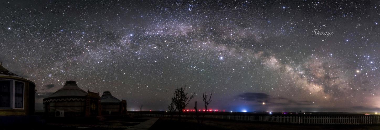 内モンゴル,天の川アーチ,パノラマ,銀河,天の河