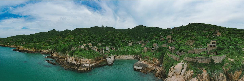 枸杞島,後頭湾村(無人村),パノラマ撮影