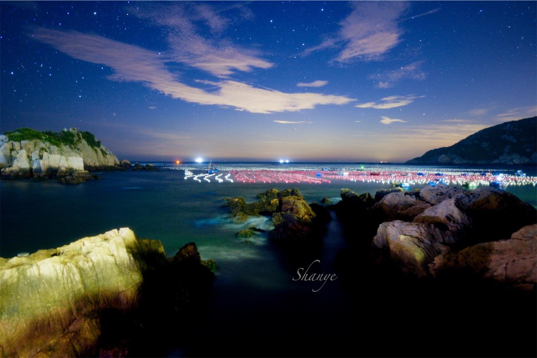 枸杞島(クコ島),蛍光海