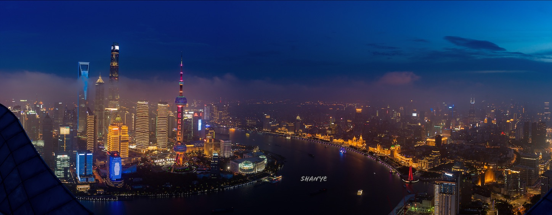 上海夜景パノラマ